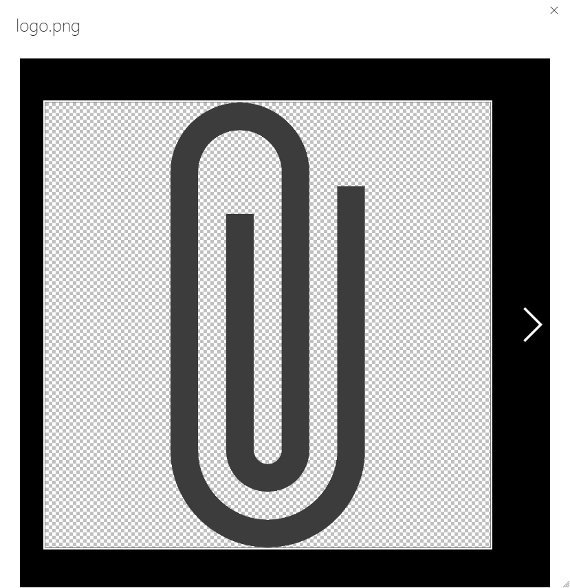 dialog with larger image of paper clip logo