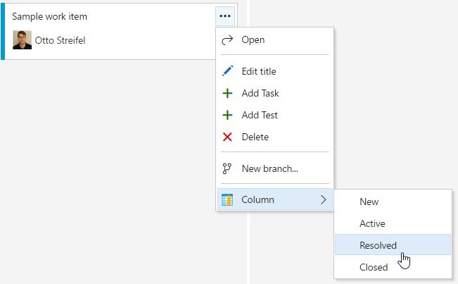 kanban context menu image