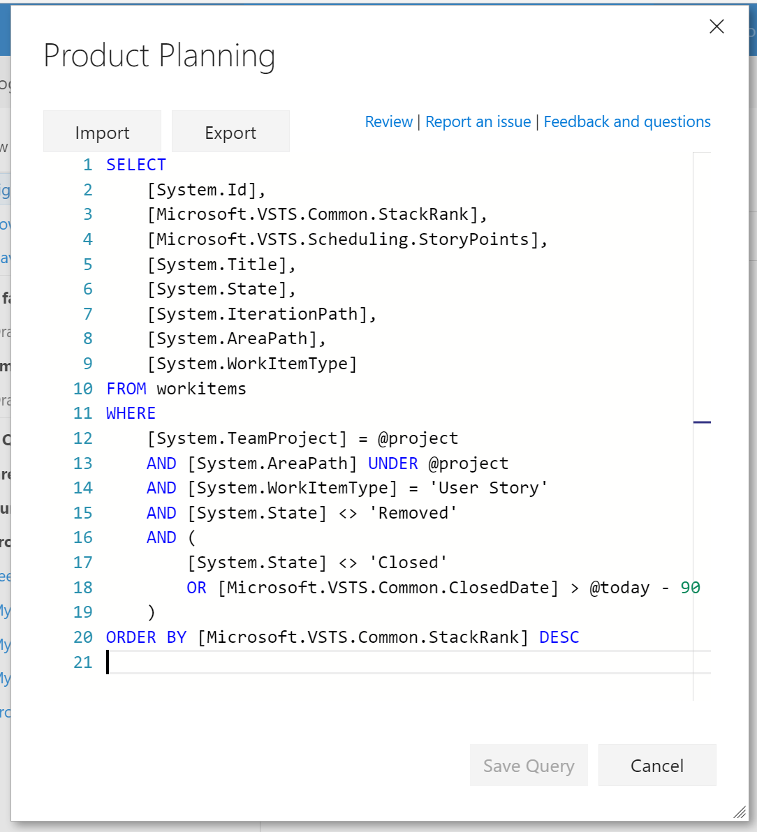 Wiql Editor - Visual Studio Marketplace